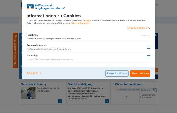 Vorschau von www.rb-augsburgerland.de, Raiffeisenbank Augsburger Land West eG