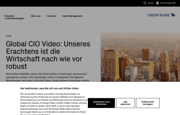 Vorschau von www.credit-suisse.com, Credit Suisse Group AG