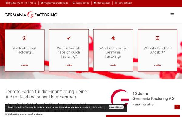Vorschau von www.germania-factoring.de, Germania Factoring AG