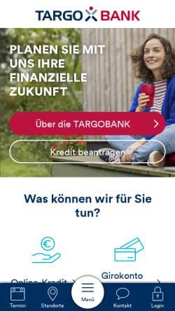 Vorschau der mobilen Webseite www.targobank.de, TARGO Factoring GmbH