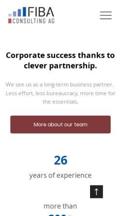 Vorschau der mobilen Webseite www.fiba-consulting.ch, Fiba Consulting AG