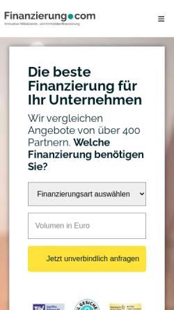 Vorschau der mobilen Webseite finanzierung.com, Finanzierung.com GmbH