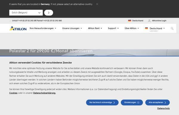 Vorschau von www.athlon.com, Athlon Germany GmbH