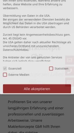 Vorschau der mobilen Webseite www.maklerkonzepte.de, Maklerkonzepte GbR
