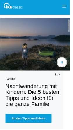 Vorschau der mobilen Webseite www.ikk-classic.de, IKK Classic