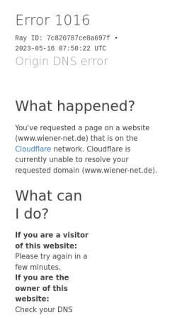 Vorschau der mobilen Webseite www.wiener-net.de, Versicherungsmakler Thomas Wiener