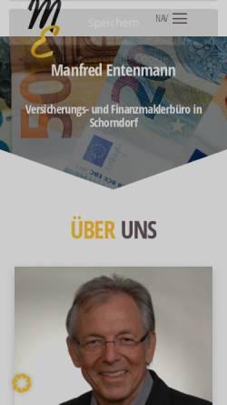 Vorschau der mobilen Webseite www.entenmann-maklerbüro.de, Versicherungsmakler Dietmar Entenmann