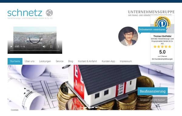 Vorschau von schnetz-net.de, SCHNETZ Versicherungs- und Finanzmakler GmbH & Co. KG