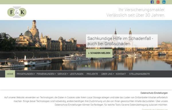 Vorschau von www.dresdner-versicherungsmakler.de, Falkenberg & Kakies GmbH + Co. KG
