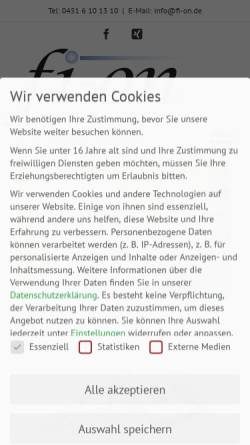 "Vorschau der mobilen Webseite www.fi-on.de, fi-on ""Finanzierungen & Immobilien- online"" OHG"