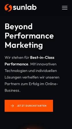Vorschau der mobilen Webseite www.sunlab.de, Sunlab.de, Andreas Kraus