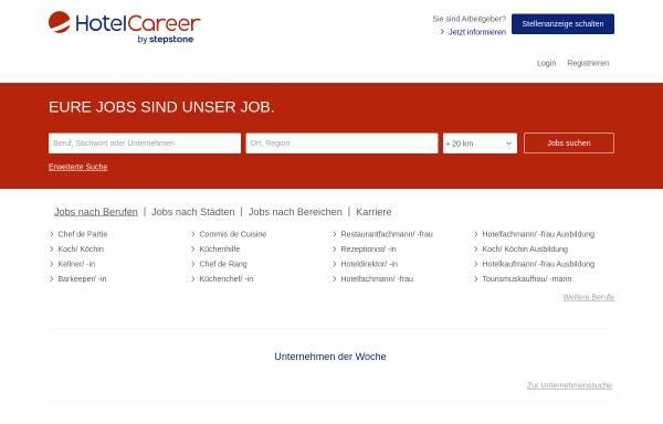 Vorschau von www.yourcareergroup.de, Hotelcareer, Yourcareergroup GmbH