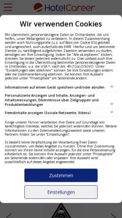 Vorschau der mobilen Webseite www.yourcareergroup.de, Hotelcareer, Yourcareergroup GmbH