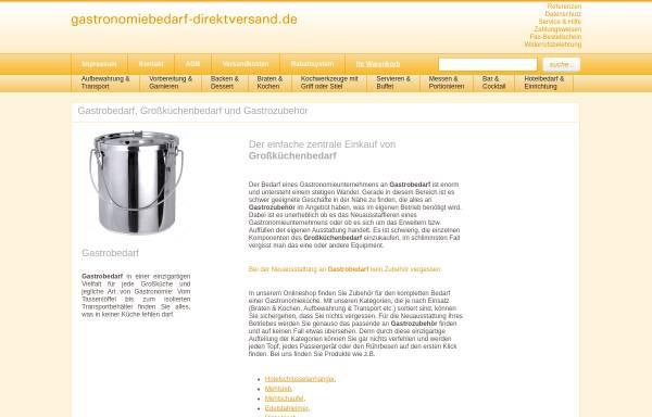 Vorschau von www.gastronomiebedarf-direktversand.de, Gastronomiebedarf Direktversand - Gastronomie-Fachhandel Luboch Inh. Uwe Luboch