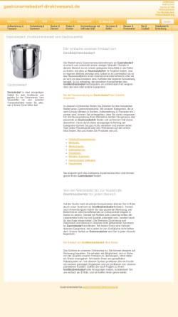 Vorschau der mobilen Webseite www.gastronomiebedarf-direktversand.de, Gastronomiebedarf Direktversand - Gastronomie-Fachhandel Luboch Inh. Uwe Luboch