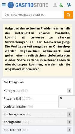 Vorschau der mobilen Webseite www.coolandcook.de, Cool and Cook GmbH
