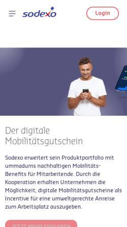 Vorschau der mobilen Webseite de.sodexo.com, Sodexo Pass GmbH