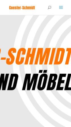 Vorschau der mobilen Webseite www.coester-schmidt.de, Coester & Schmidt Unternehmensberatung GmbH
