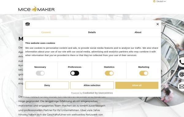 Vorschau von www.mice-maker.de, MICE MAKER GmbH