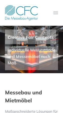Vorschau der mobilen Webseite www.creativefairconcepts.de, CFC Die Messebau-Agentur GmbH