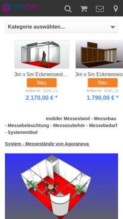 Vorschau der mobilen Webseite modularstand.de, Agoranova GmbH & Co. KG