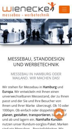 Vorschau der mobilen Webseite www.wienecke-messebau.de, F. & M. Wienecke Werbegestaltung & Messebau GmbH