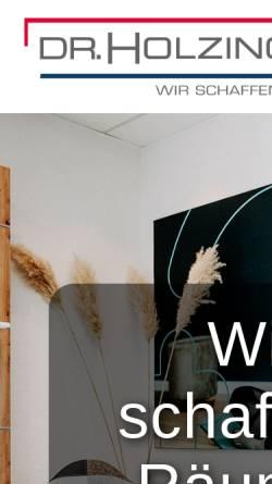 Vorschau der mobilen Webseite www.drholzinger.de, Dr. Holzinger GmbH