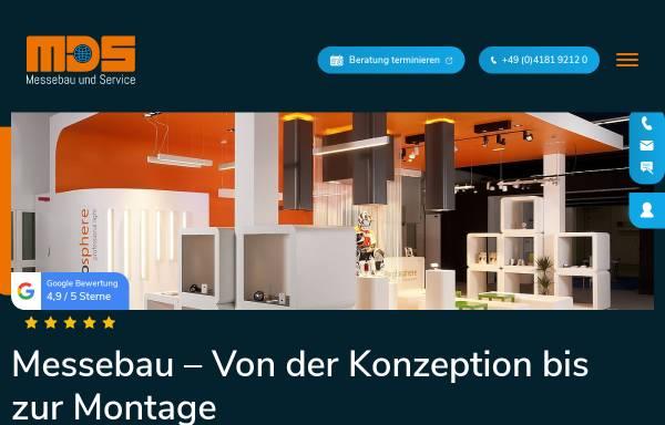 Vorschau von www.mdsmessebau.de, MDS Messebau und Service Gesellschaft für Planung Gestaltung Ausführung mbh