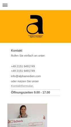 Vorschau der mobilen Webseite www.messebau-alpha.de, Alpha Beratungsgesellschaft mbH