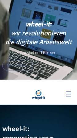 Vorschau der mobilen Webseite www.wheel-it.de, Wheel-it AG