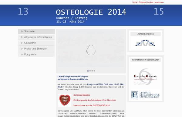 Vorschau von www.osteologie14.de, Kongress Osteologie 2014