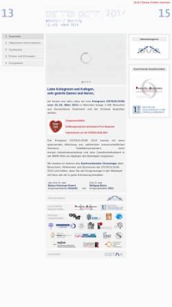 Vorschau der mobilen Webseite www.osteologie14.de, Kongress Osteologie 2014