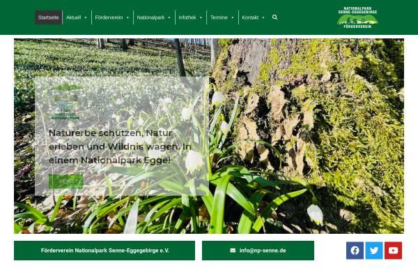 Vorschau von www.nationalpark-senne-eggegebirge.de, Förderverein Nationalpark Senne-Eggegebirge e.V.
