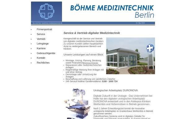 Vorschau von boehme-medizintechnik.de, Böhme Medizintechnik GmbH