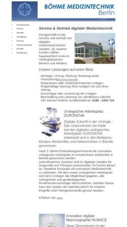 Vorschau der mobilen Webseite boehme-medizintechnik.de, Böhme Medizintechnik GmbH