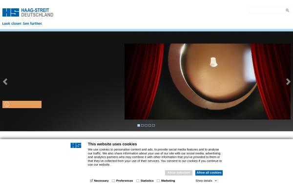 Vorschau von www.haag-streit.de, Haag Streit Deutschland GmbH