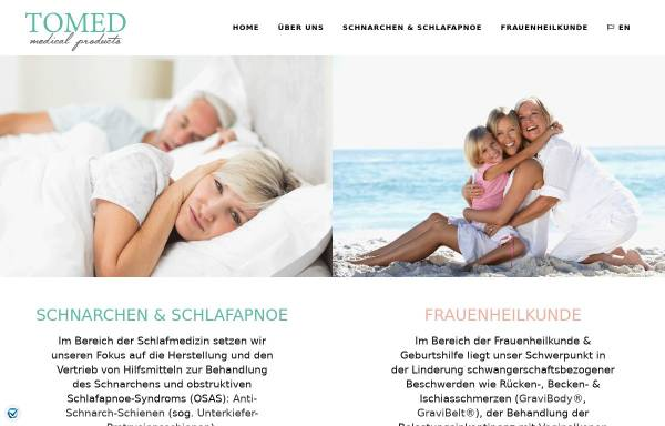 Vorschau von tomed.com, Tomed GmbH
