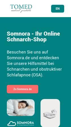 Vorschau der mobilen Webseite tomed.com, Tomed GmbH