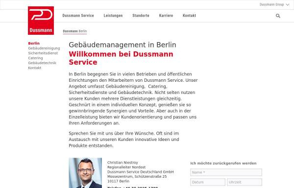 Vorschau von www.dussmann.com, Dussmann Service Deutschland GmbH