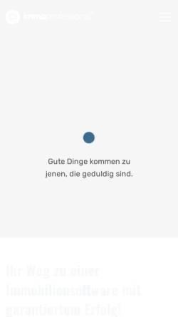 Vorschau der mobilen Webseite www.immoprofessional.com, Immoprofessional, WebsitesCreator GmbH