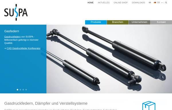 Vorschau von www.suspa.com, Suspa GmbH