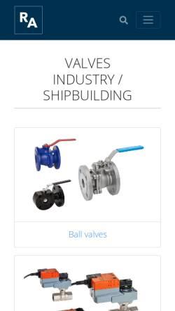 Vorschau der mobilen Webseite www.armaturenshop.de, Reimer Armaturen GmbH