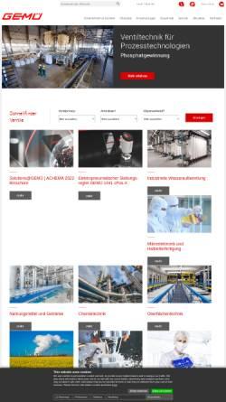 Vorschau der mobilen Webseite www.gemu-group.com, GEMÜ Gebr. Müller Apparatebau GmbH & Co. KG