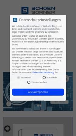 Vorschau der mobilen Webseite www.schoenborner.com, Schönborner Armaturen GmbH