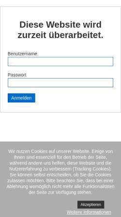 Vorschau der mobilen Webseite www.gam.de, G.A.M. Holding GmbH
