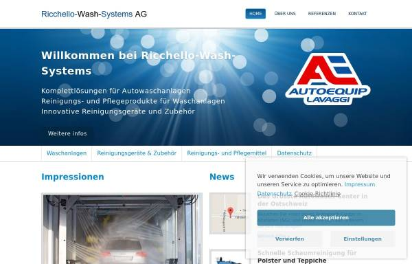 Vorschau von ricchello-wash-systems.ch, Ricchello-Wash-Systems AG
