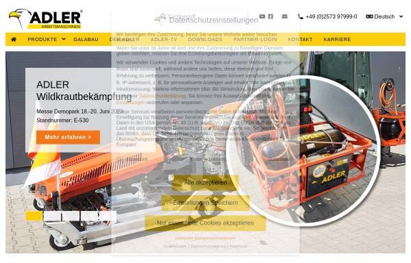 Vorschau von www.adler-arbeitsmaschinen.de, Adler Arbeitsmaschinen GmbH & Co. KG