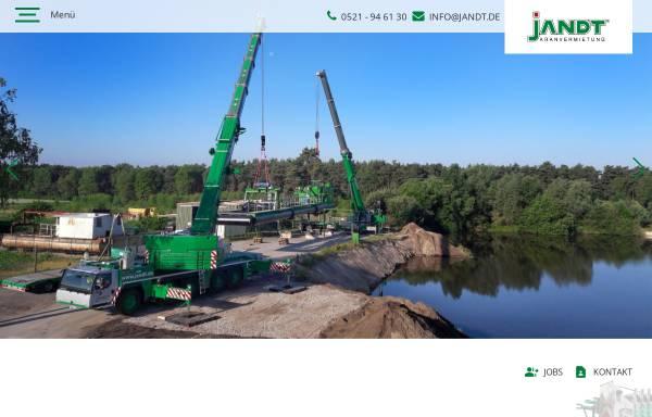 Vorschau von www.jandt.de, Jandt Kranvermietung GmbH