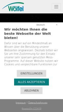 Vorschau der mobilen Webseite www.woelfel.de, Wölfel Beratende Ingenieure GmbH + Co. KG