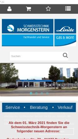 Vorschau der mobilen Webseite www.schweisstechnik-dresden.de, Schweisstechnik-Morgenstern Inh. Sylvio Thiele e.K.